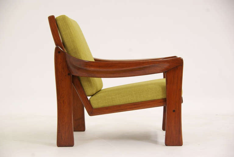 Vintage brazilian exotic wood lounge chair at stdibs