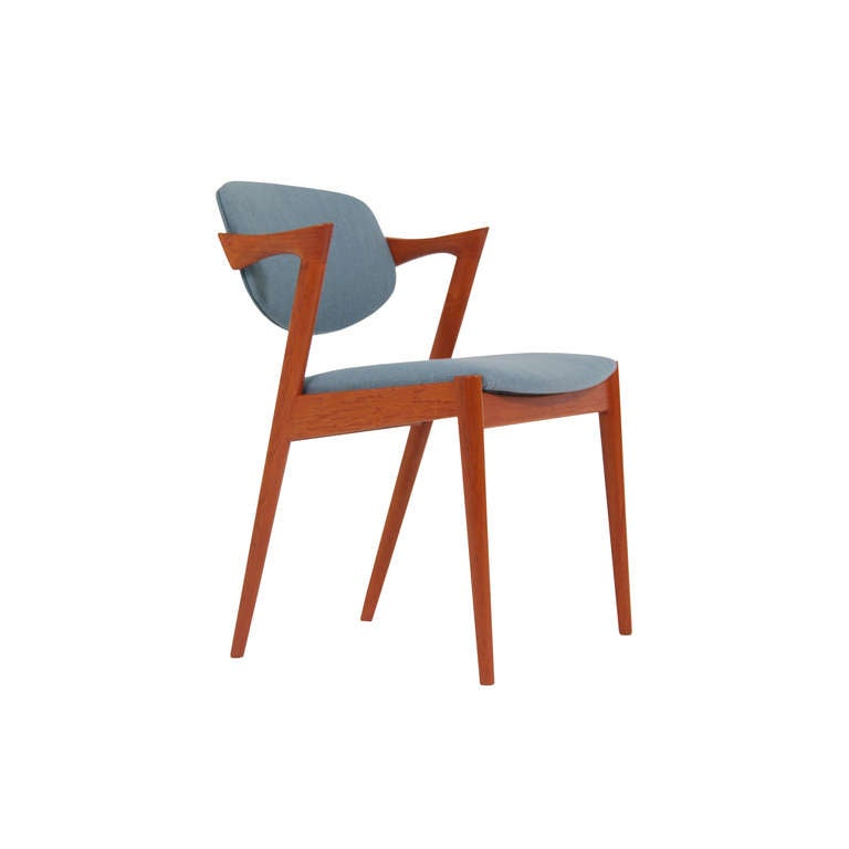 Danish teak dining chairs by kai kristiansen at 1stdibs - Kai kristiansen chairs ...