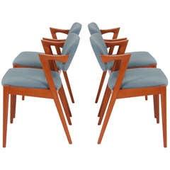 Danish Teak Dining Chairs by Kai Kristiansen