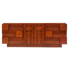 "Mid Century Modern Walnut ""Geometric"" Dresser by Lane"