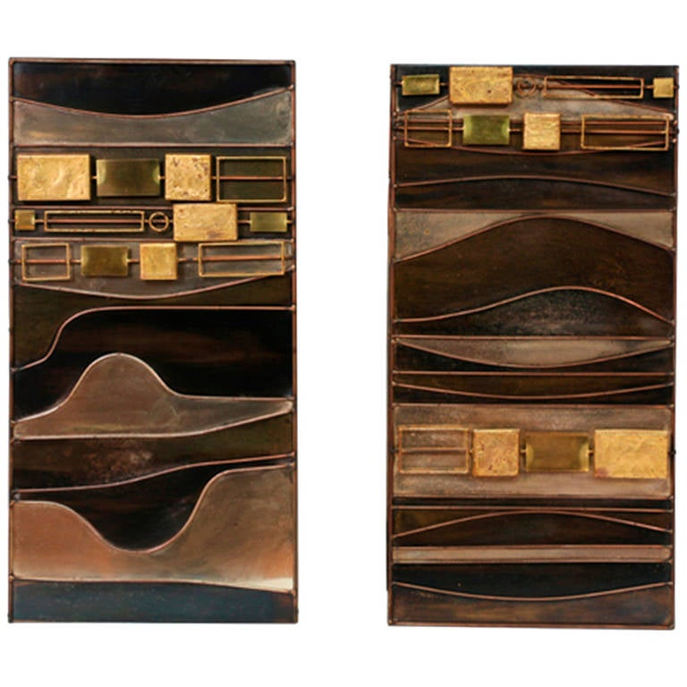 Curtis Jere Abstract Metal Wall Art Sculptures 1