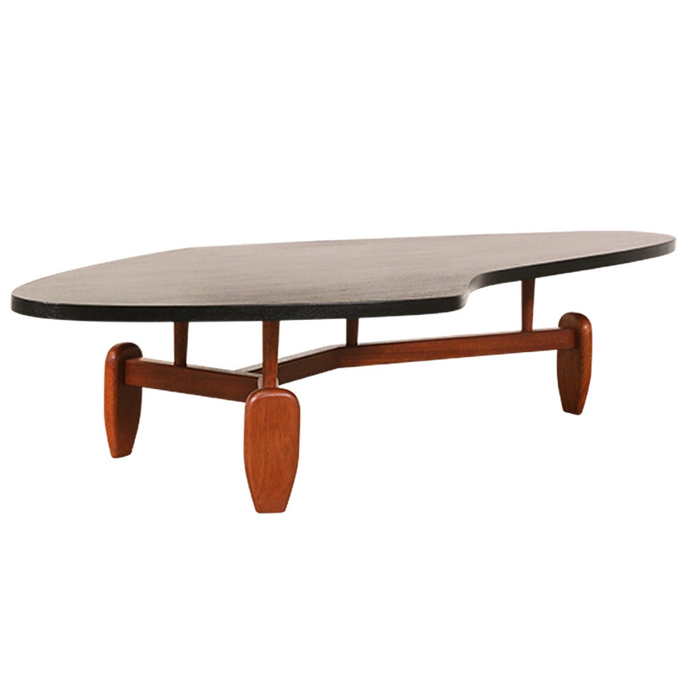 John Keal Boomerang Floating Top Coffee Table For Brown Saltman For Sale At 1stdibs