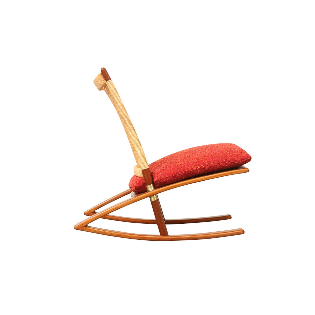 Fredrik Kayser Rocking Chair for Vatne Mobler at 1stdibs