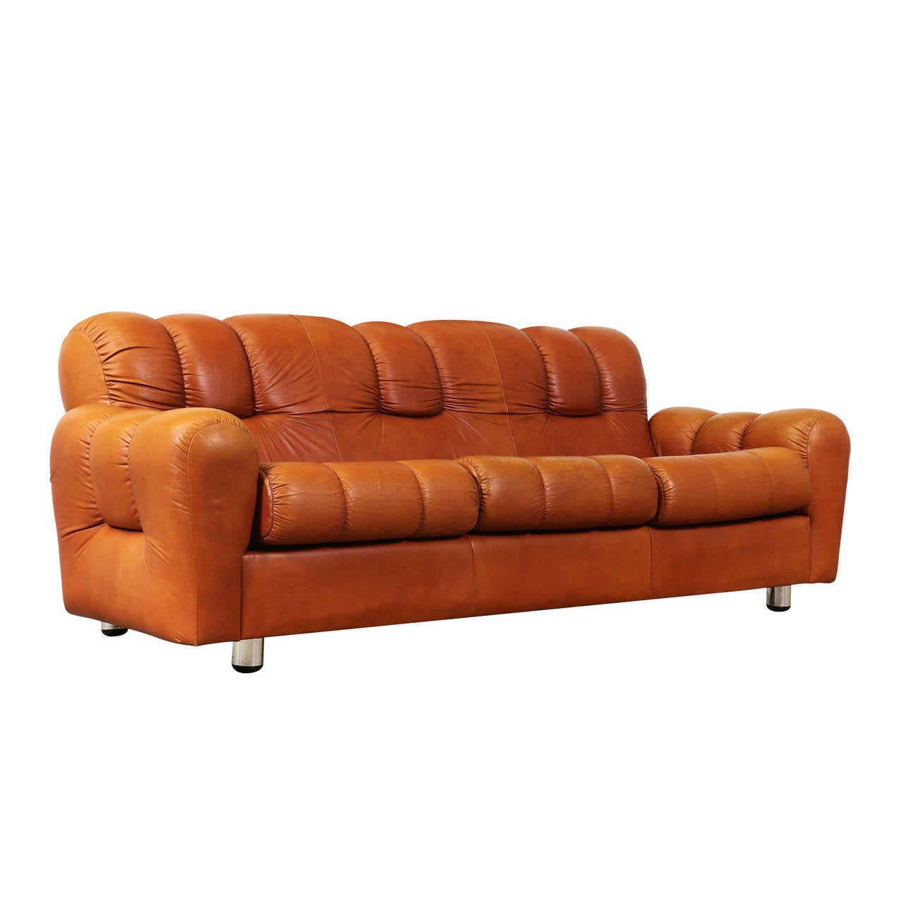 Vintage Tufted Sofa 117