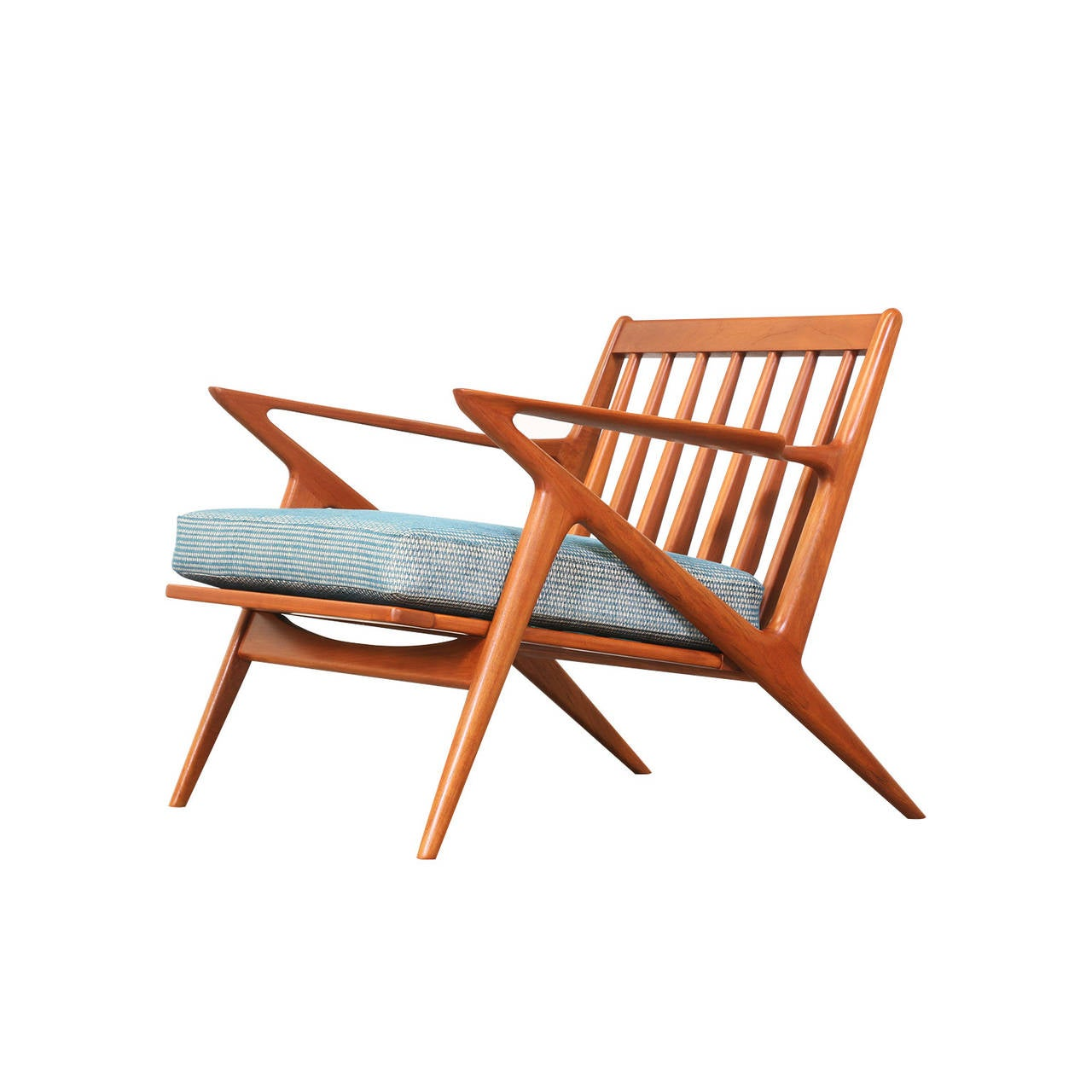 Poul Thorsbjerg Jensen Teak Z Chair With Ottoman For Selig At 1stdibs