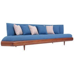 Craft Associates Vintage Walnut Sofa by Adrian Pearsall