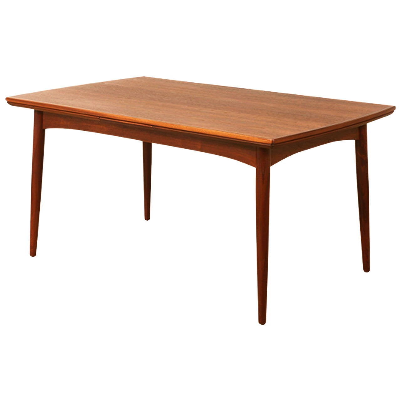 Danish modern walnut draw leaf dining table at 1stdibs for Danish modern dining room table