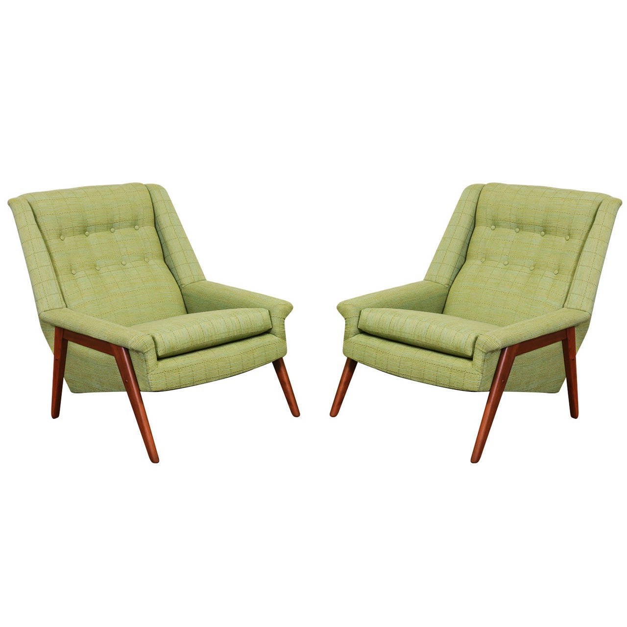 Mid century dux style lounge chairs at 1stdibs for Mid century style furniture