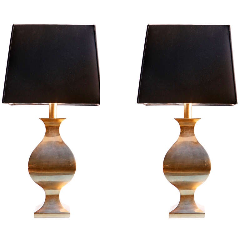 a pair of white metal table lamps by maison jardin at 1stdibs. Black Bedroom Furniture Sets. Home Design Ideas