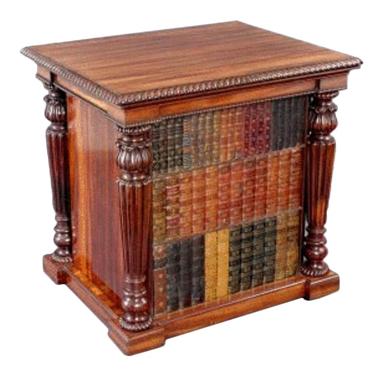 Early 19th century Goncalo Alves Library Folio Cabinet attributed to Gillows.