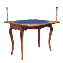 19th Century Card Table by Holland & Sons, Rare Hungarian Ash and Purple Heart