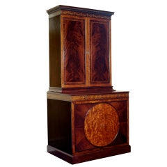 18th Century George III Period Mahogany and Satinwood Cabinet