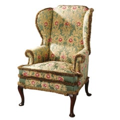 Mid 18th century Fine George II Period Wing Chair