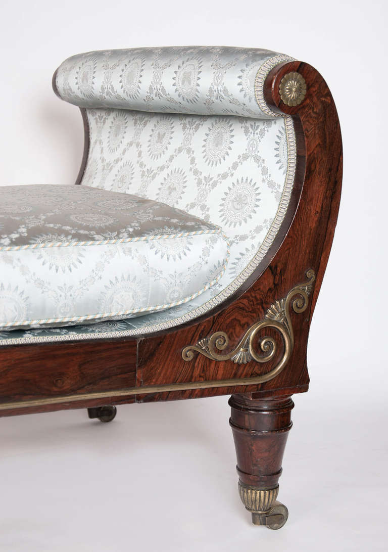 19th century high style regency period library couch or for 19th century chaise lounge