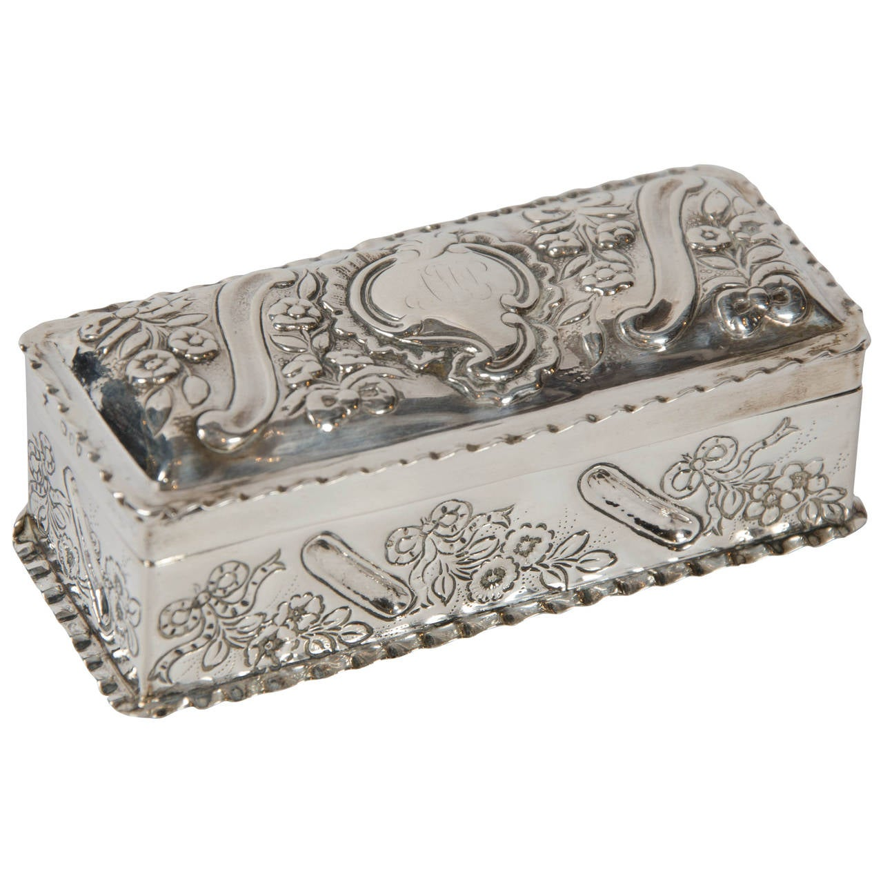 repousse silver box at 1stdibs