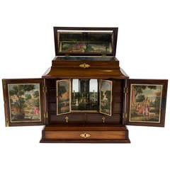 Table Cabinet with Early Oil Paintings