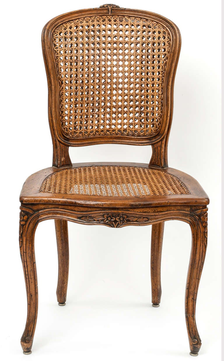 Set of 8 caned french dining chairs at 1stdibs for Dining room 8 chairs