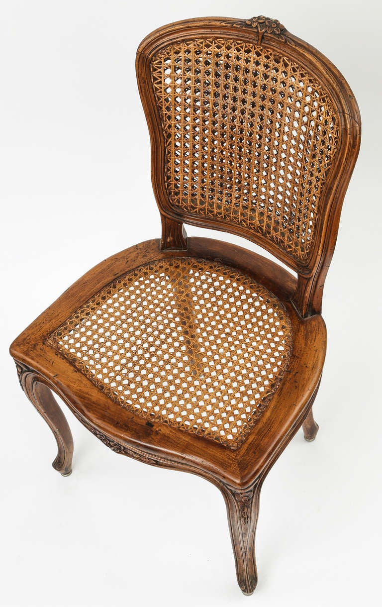 Set Of 8 Caned French Dining Chairs At 1stdibs
