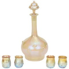 Tiffany Favrile Cordial Set