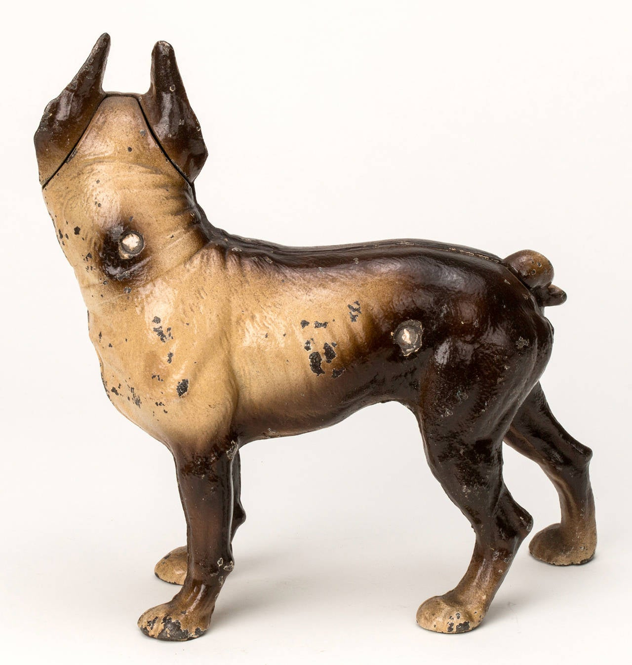 C1920s Cast Iron Boston Terrier Door Stop At 1stdibs