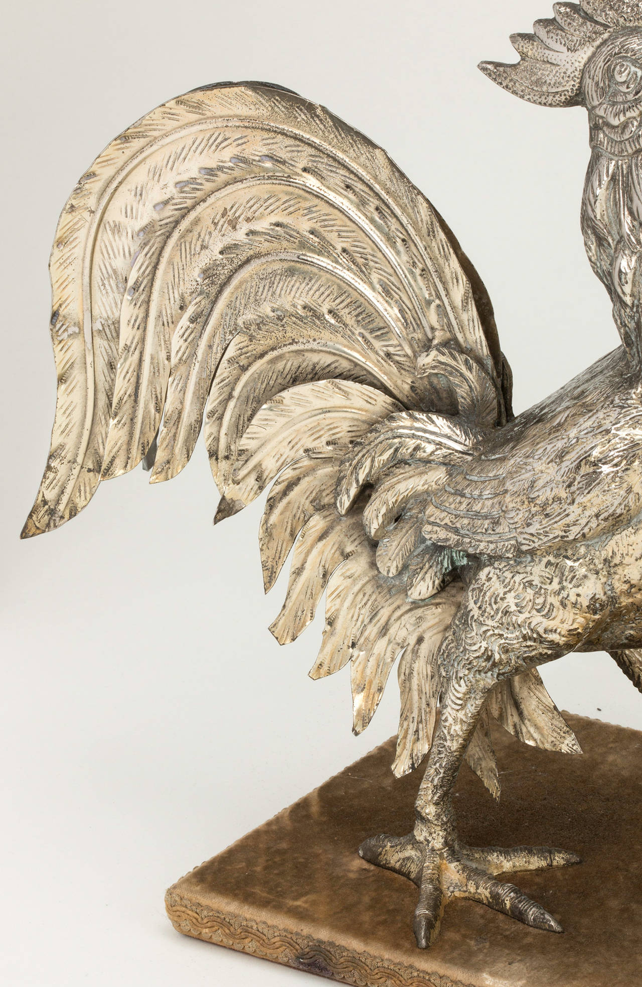 Silver Plate Rooster Lamp For Sale At 1stdibs