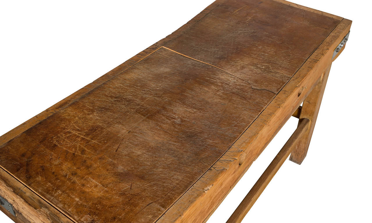 english butcher block table stand at 1stdibs