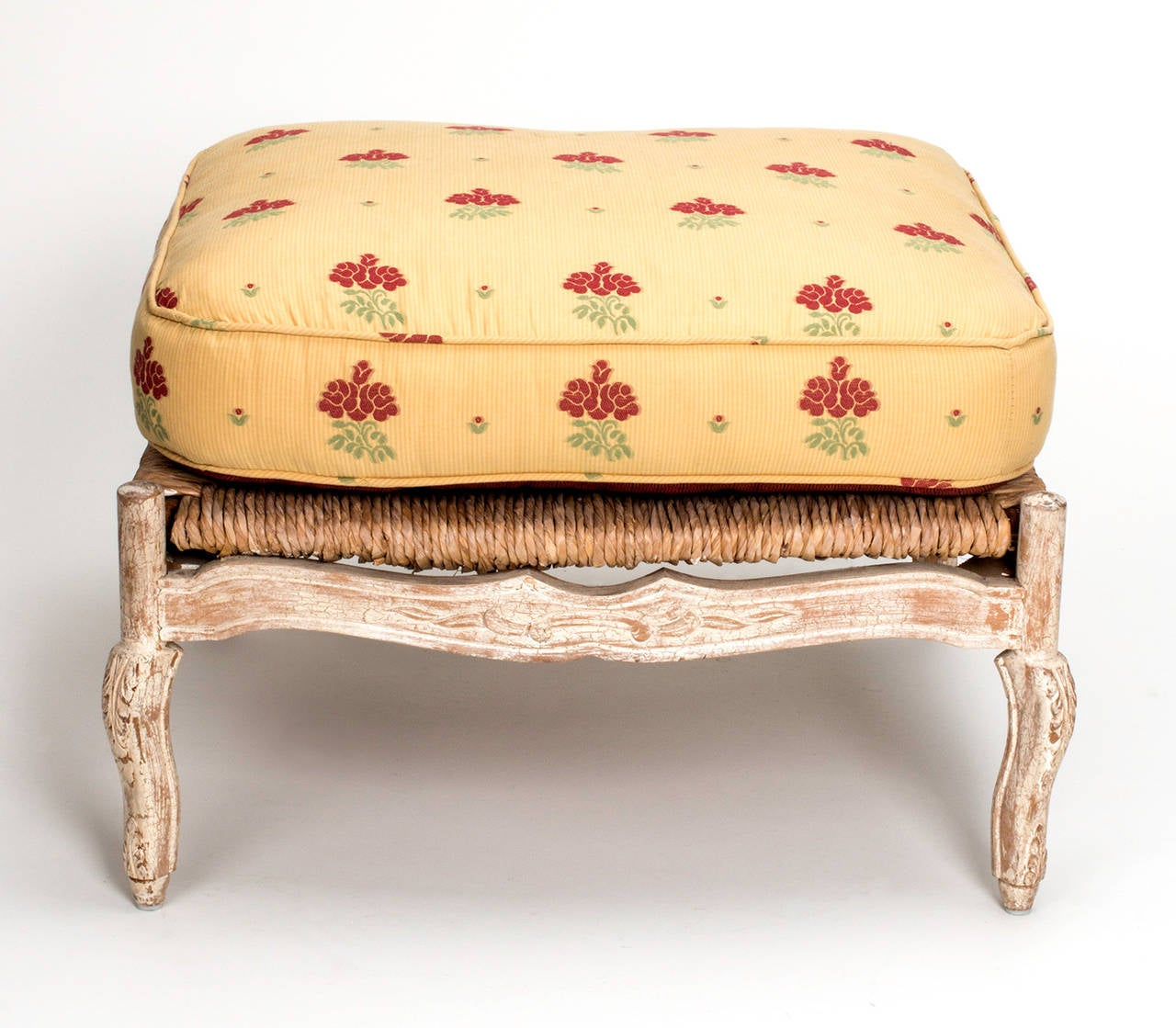 rush chair seat cushions. 1920s french painted rush seat armchair and ottoman 2 chair cushions