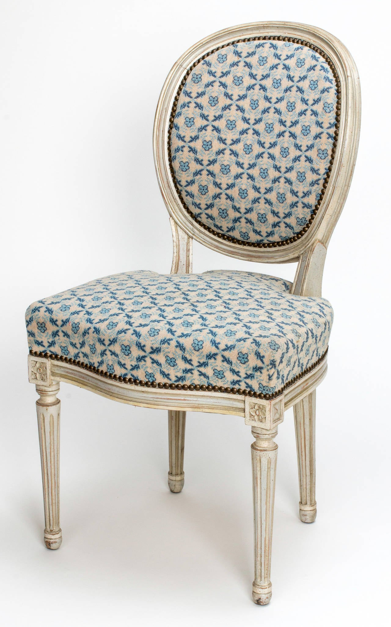 Lovely Set Of Louis XVI Style Dining Chairs Circa 1890s Round Back Later