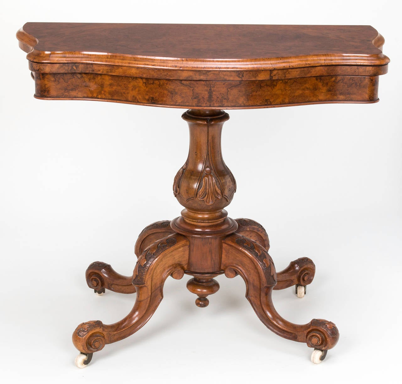 19th century burl walnut card game table for sale at 1stdibs for 11 in 1 game table