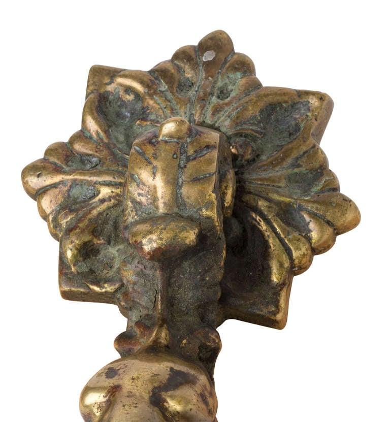 19th century large bronze dog door knocker at 1stdibs - Bulldog door knocker ...