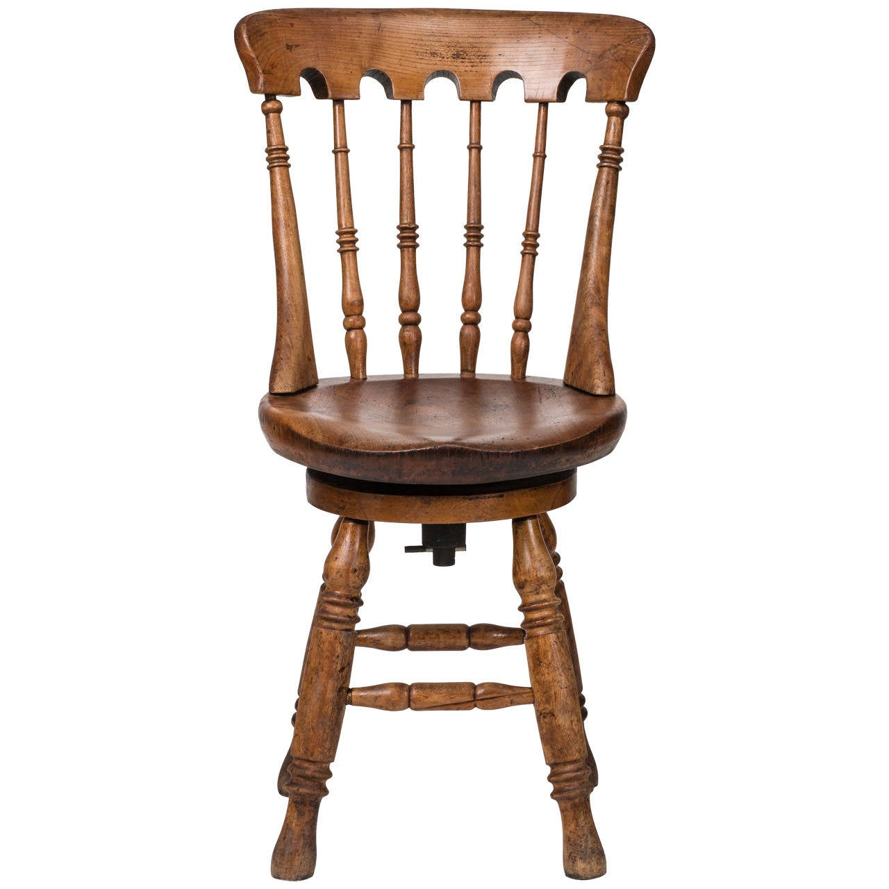 1900s Swivel Piano Or Desk Chair At 1stdibs