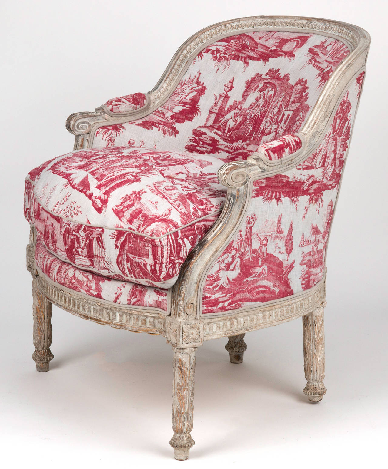 C. 1775, Louis XVI Painted Chair For Sale 1