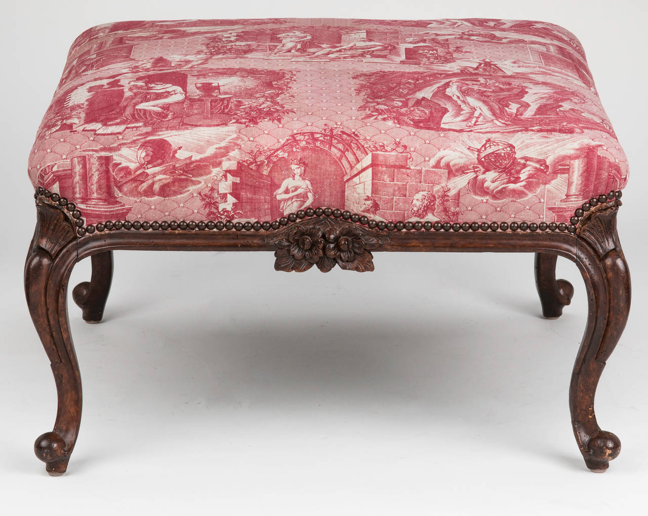 C.1850 Overscale Large French Ottoman Or Bench 2