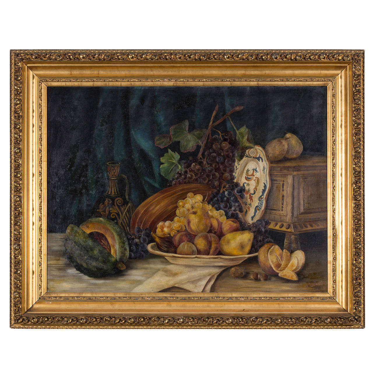 C. 1930s Still Life Oil on Canvas by EF Burkinshaw