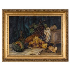 Painting, C. 1930s Still Life Oil on Canvas by EF Burkinshaw