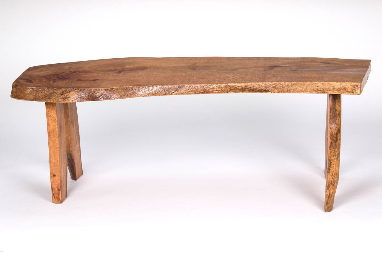 Handmade Slab Wood Bench Or Coffee Table At 1stdibs