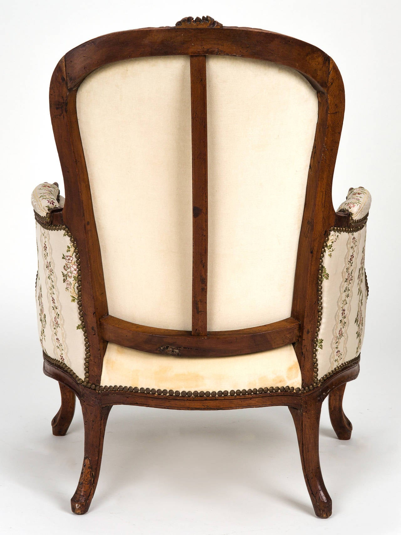 Louis XV Chair and Ottoman Chaise Lounge For Sale at 1stdibs