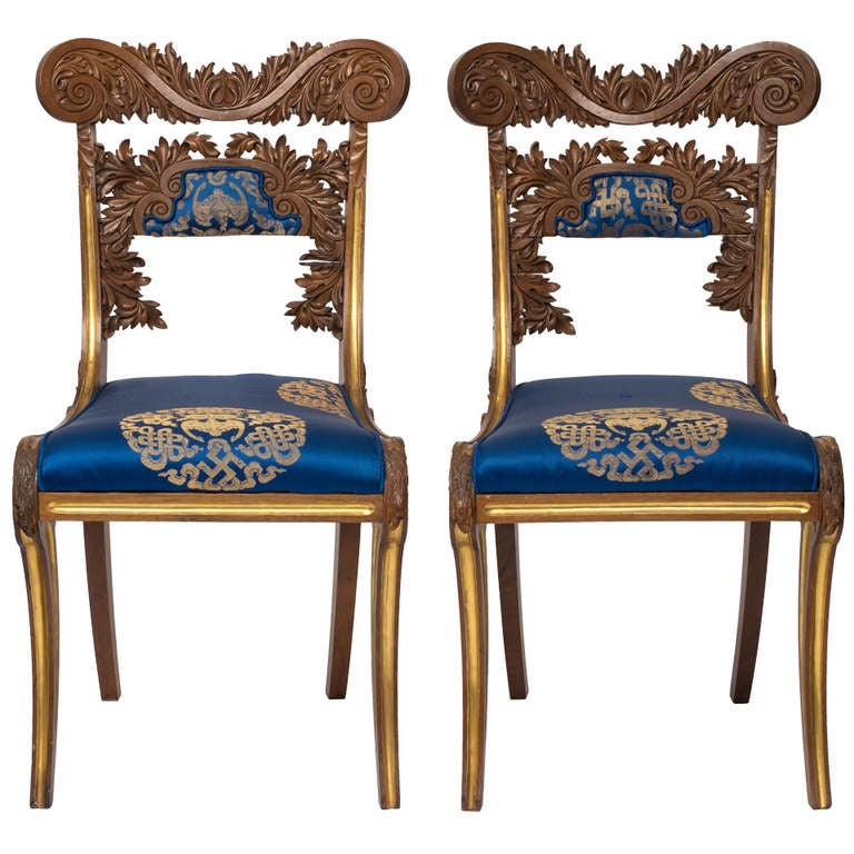 18th Century Pair Of Russian Side Chairs At 1stdibs