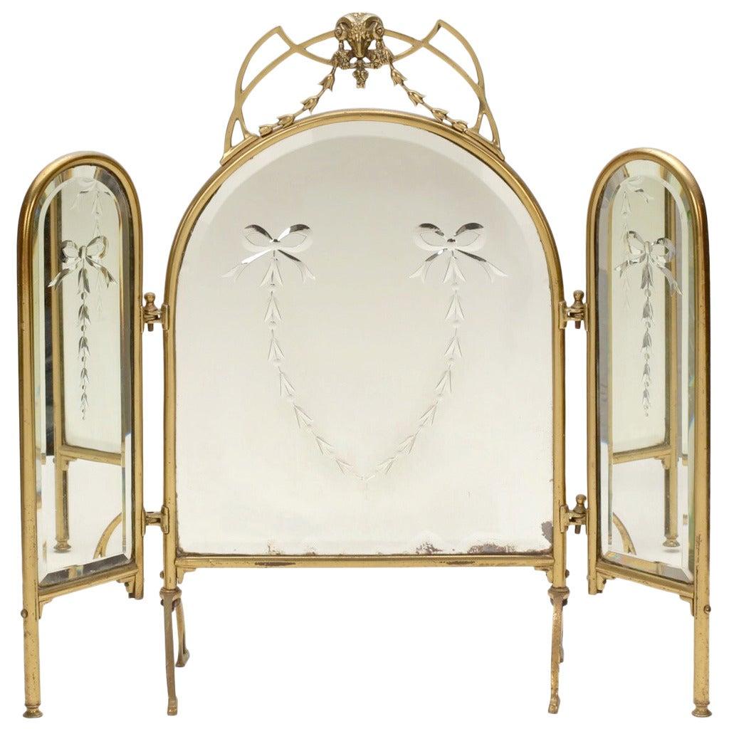 Three Way Vanity Dressing Table Mirror At 1stdibs