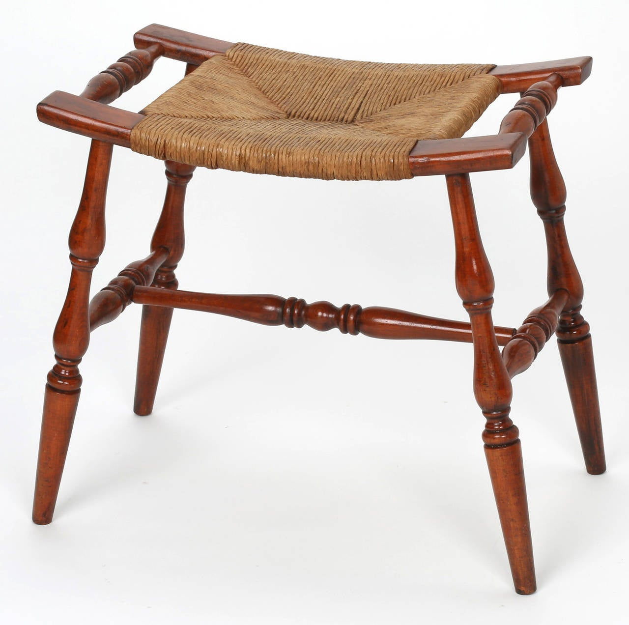Very Impressive portraiture of Rush Seat Bench at 1stdibs with #763926 color and 1280x1272 pixels