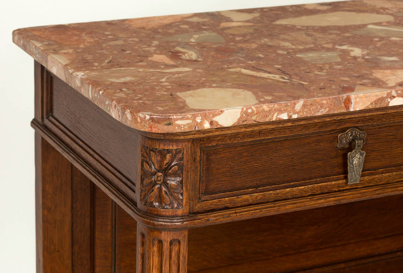 A schomas french marble top buffet sideboard server at