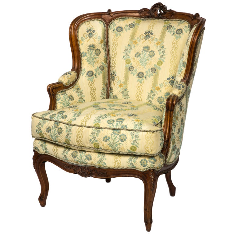 19c Carved Walnut French Tub Chair For Sale At 1stdibs