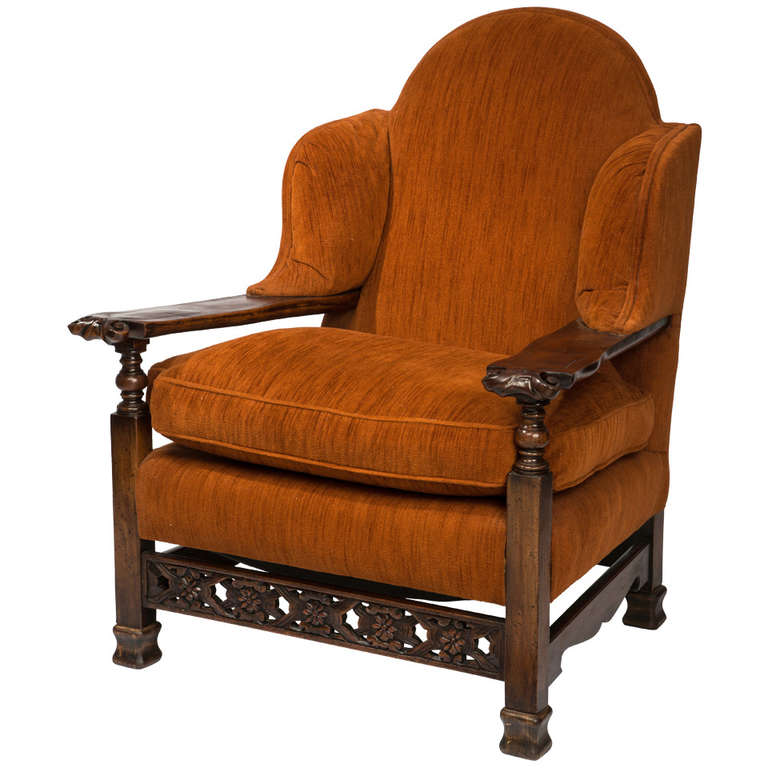 Sumptuous and large arm chair at stdibs