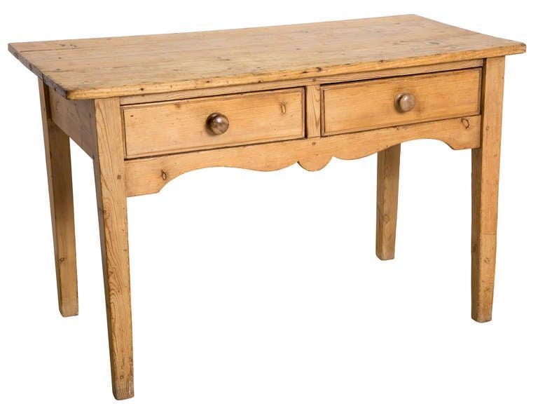 19th Century Rustic Pine Table/Desk 2