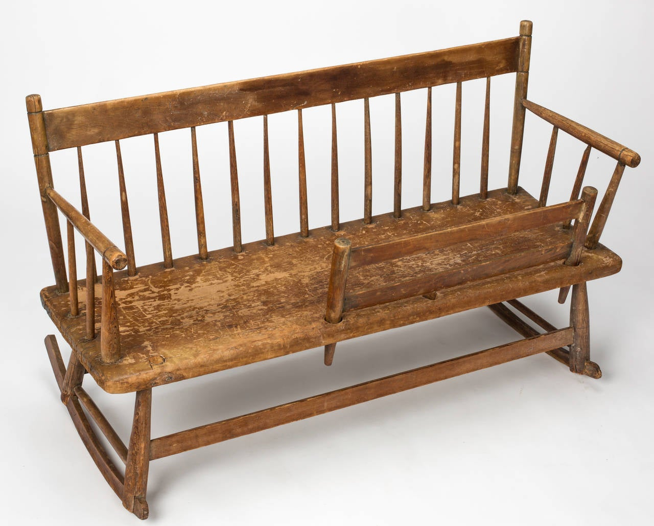 Early American Mammy S Rocker Bench Circa 1830s At 1stdibs