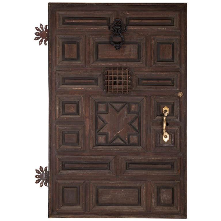 Fabulous massive spanish door at 1stdibs for Door in spanish