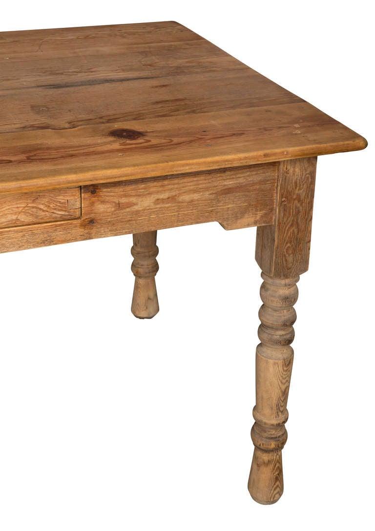 Rustic Pine Hand Made Farm Table at 1stdibs : TableLargefunkyPine2drawer9871l from 1stdibs.com size 768 x 1088 jpeg 56kB