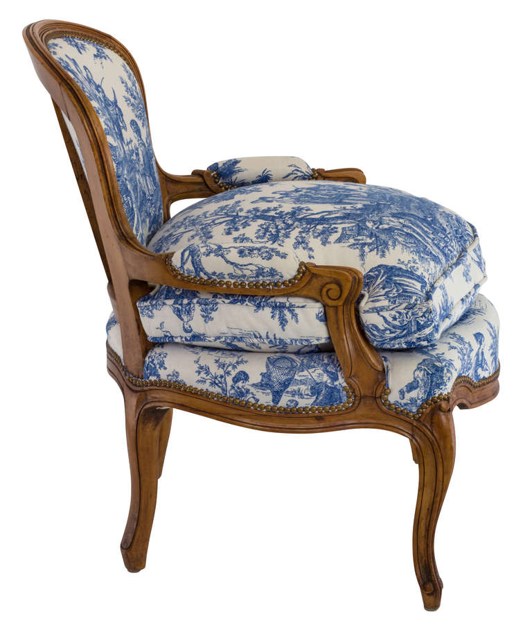 Awesome Blue And White Toile Country French Chair At 1Stdibs Machost Co Dining Chair Design Ideas Machostcouk