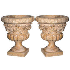 Hand Carved Sienna Marble Stone Planter
