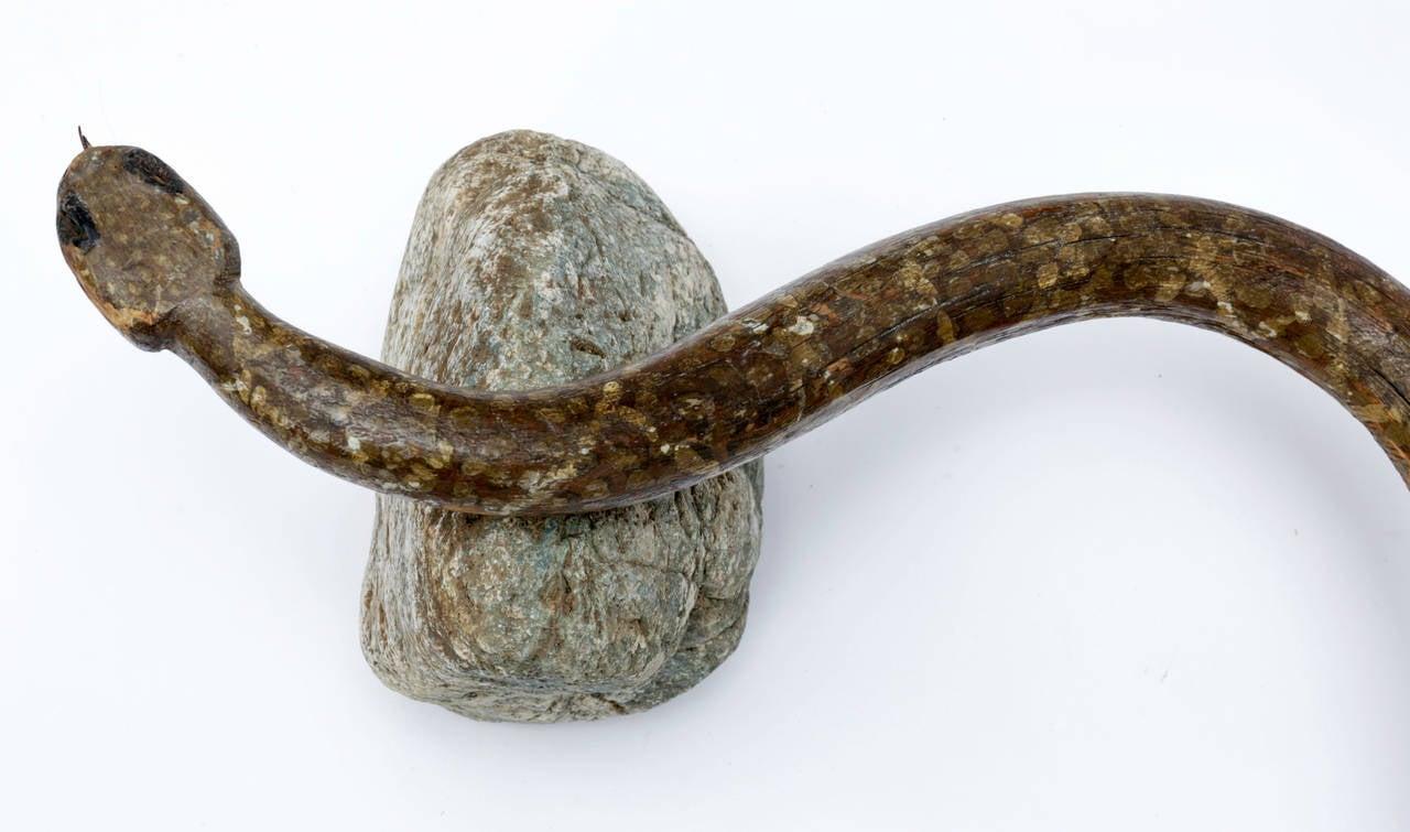 Wooden folk art snake circa at stdibs